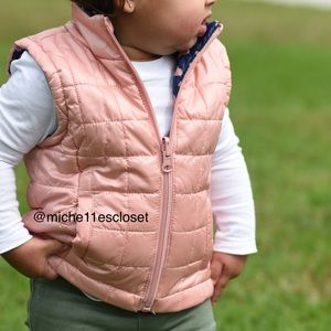 Urban Republic quilted reversible toddler vest